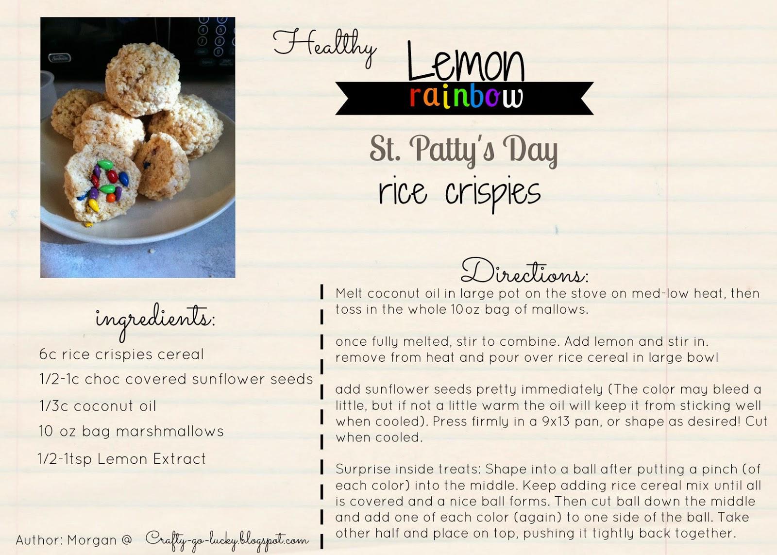 Healthy Lemon Rainbow Rice Crispies