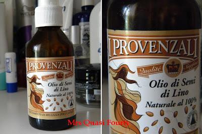 Capelli aridi riparati con olio di semi di lino de i provenzali