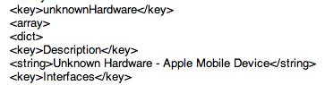 Referências de códigos do iOS 6 beta