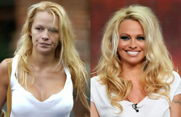 Pamela Anderson - باميلا اندرسون - shocking celebrities without makeup photoshop