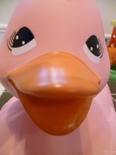 pink rubber duck bath toy