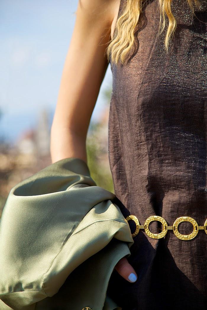 cintura vintage oro