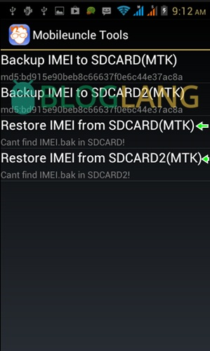 restore imei Android