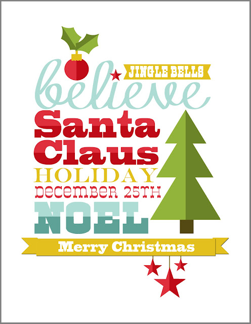 FREE Christmas printable by Jen Gallacher. From www.jengallacher.com.