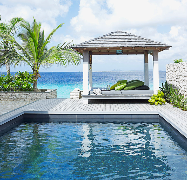 White carribbean beach villa 79 ideas for Beach villa design ideas