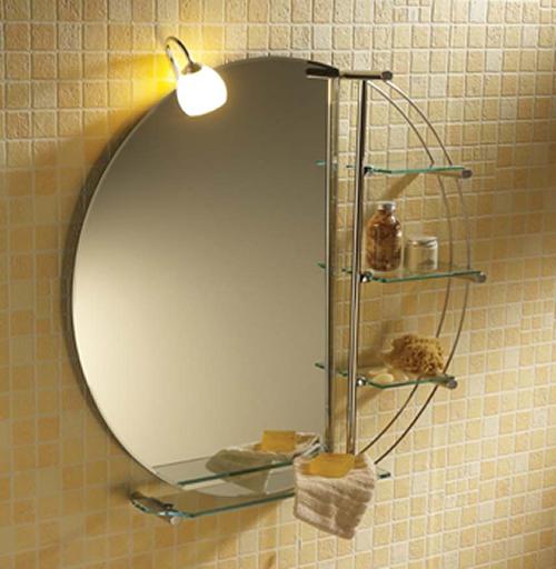 The shopping online deco duo miroir et rangement salle de for Miroir salle de bain rangement