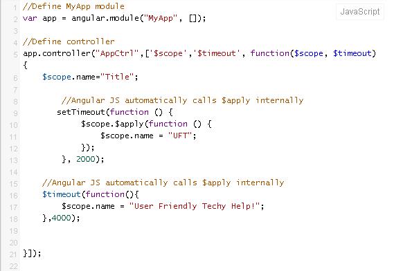 Databinding example code