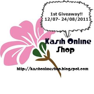 KASIH ONLINE SHOP 1st GIVEAWAY!!!
