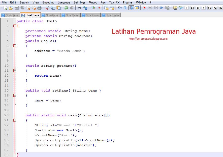 Contoh Soal Latihan Quiz Pemrograman Java Ilmu Tekhnologi