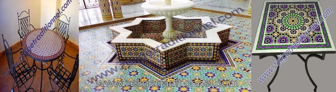 zellige moderne marocain tables en mosa239que zellige