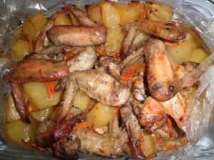 Крылья в рукаве в духовке рецепт