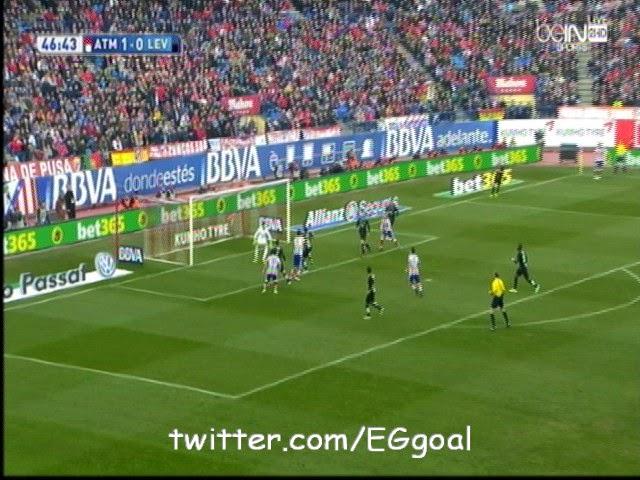 اهداف مباراة أتلتيكو مدريد 3-1 ليفانتي الدورى الاسبانى Atletico Madrid vs Levante