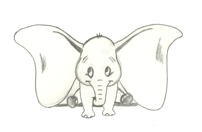 Dumbo Disney Drawing A Place To Put My Stuff 22