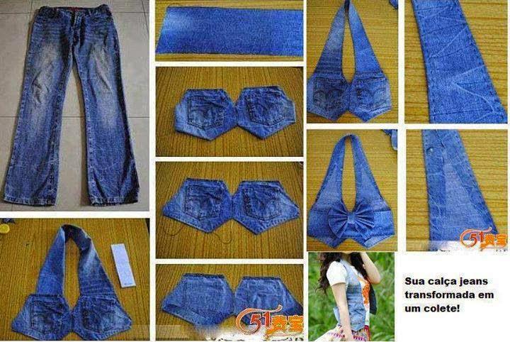 Как из джинс сделать топик