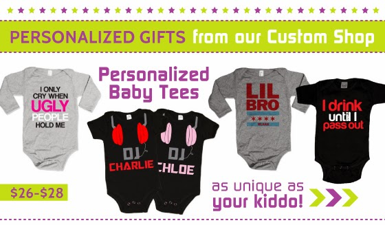 Shop Personalized Baby Tees and One-Pieces