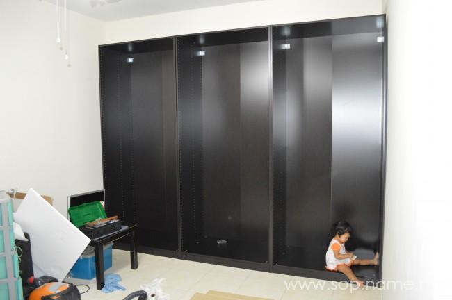 Projek pasang almari IKEA - PAX Bahagian 2