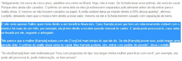 """Notícia extraída do site """"O Fuxico"""""""