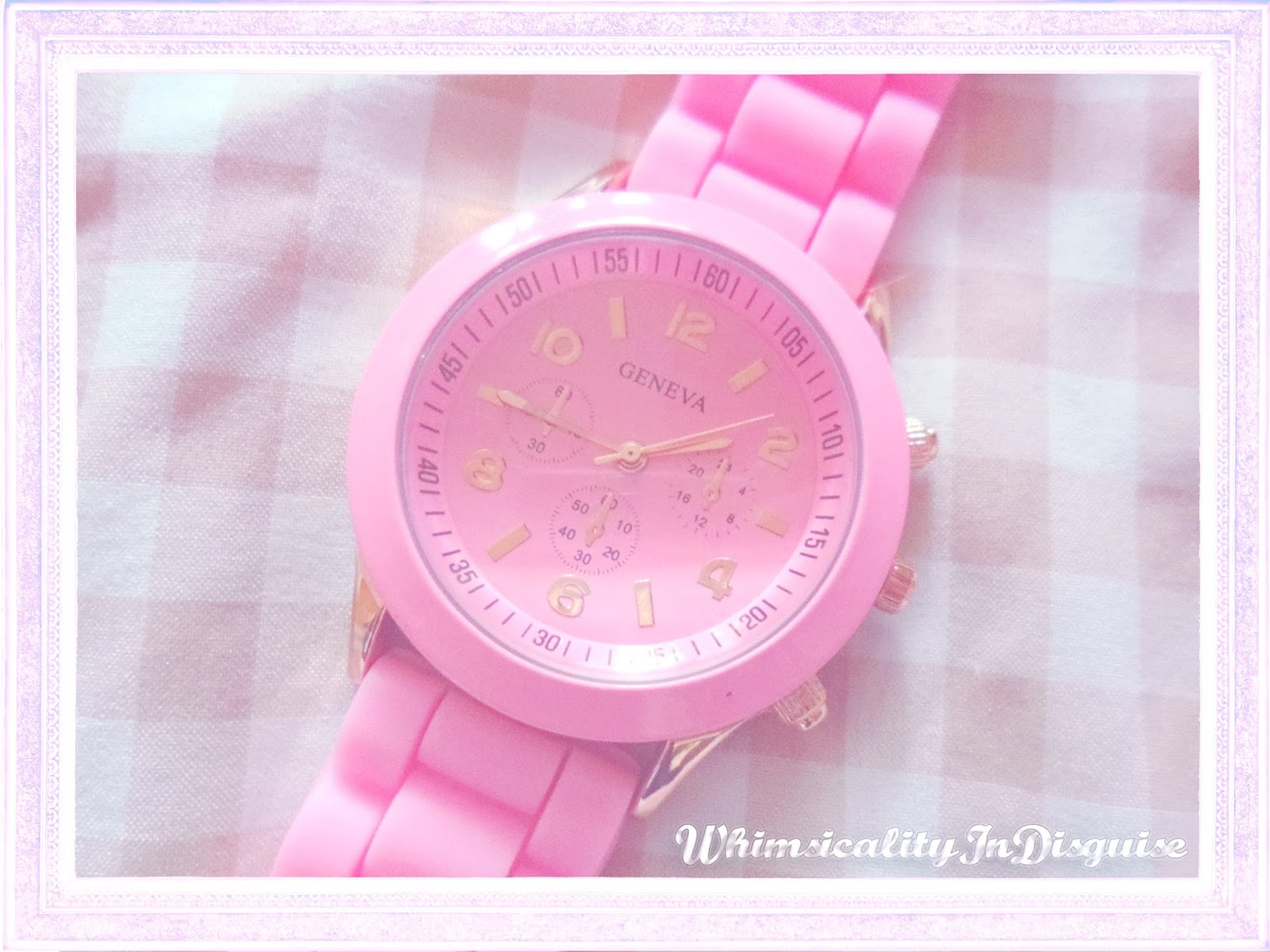 Lady Fluorescent Color Jelly Watch Ice Cream Silica Gel review