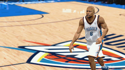 NBA 2K13 Derek Fisher OKC Face NBA2K Patch
