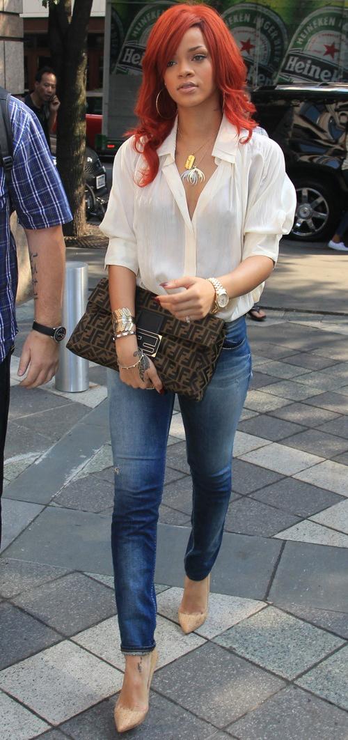 Skinny Girl Style For Curves Rihanna Stylish Curves