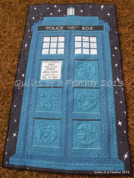 Quilts Of A Feather Tardis Quilt