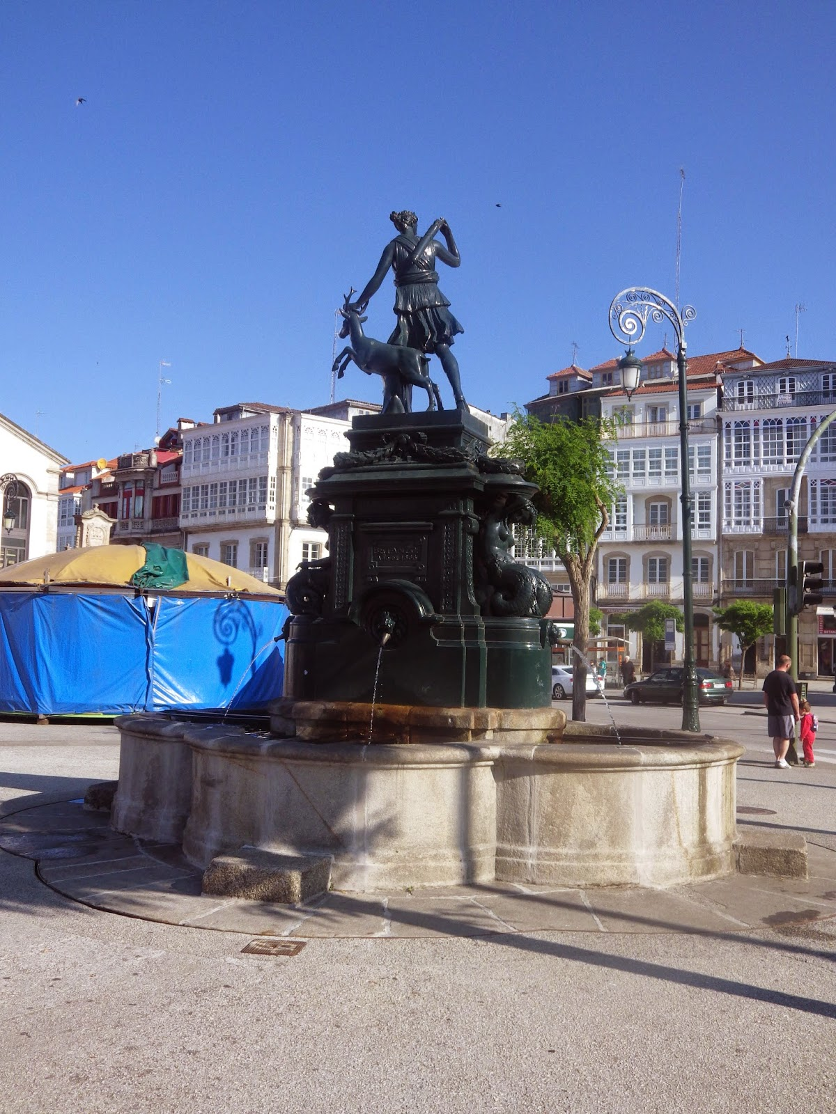 Diana's fountain in Betantoz, Northern Spain