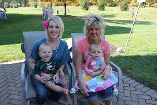 10/8/11 Jamie & Mason (1 yr), Sarah & Reese (almost 1 yr!)