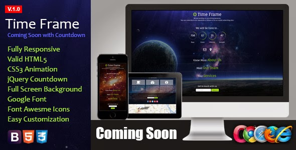 Responsive Coming Soon Template