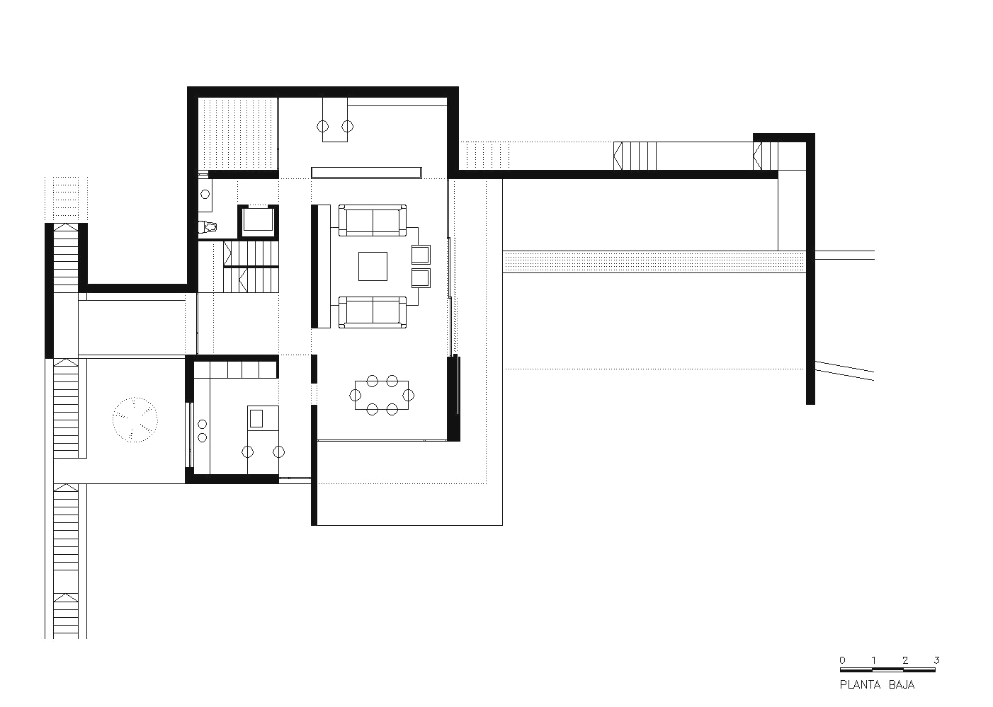 Ariana huerta pati o arquitectura casa a m arq elena for Arquitectura tecnica ua