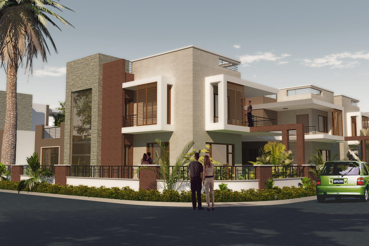 3d Architectural Visualization: Bungalows at Bhilwara