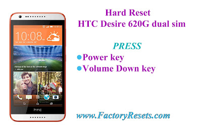 Hard Reset HTC Desire 620G dual sim