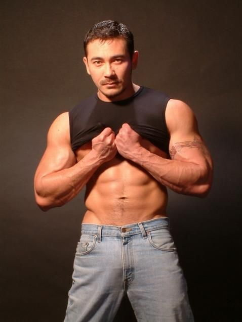 Chubby asian man muscular