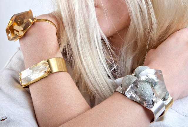 bracelet pierres brutes