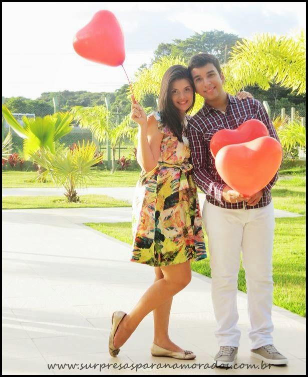 fotos românticas com balões