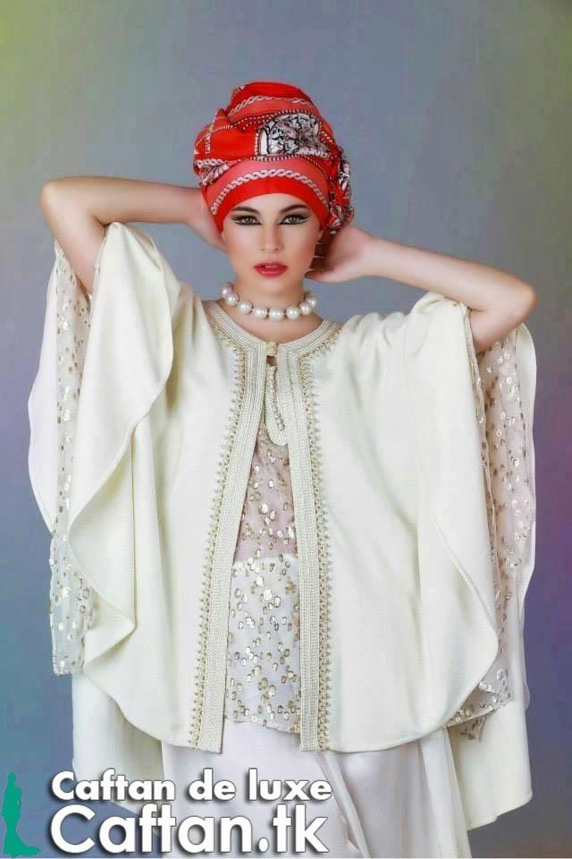 Caftan 2014 | Gandoura blanche haute gamme