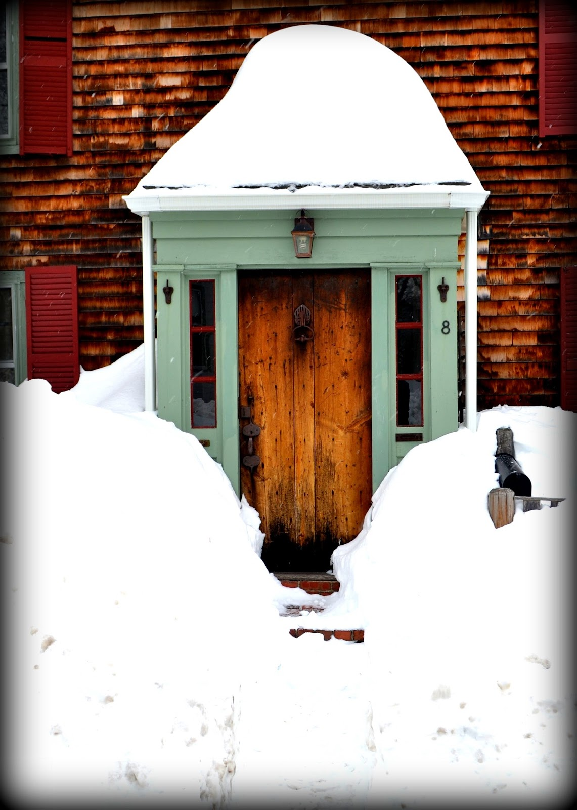 Snowy Entry -- Salem, Massachusetts