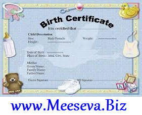 Birth Certificate Online Registration