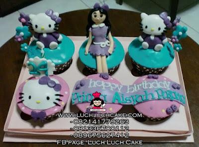 Cupcake Hello Kitty Ungu Daerah Surabaya - Sidoarjo