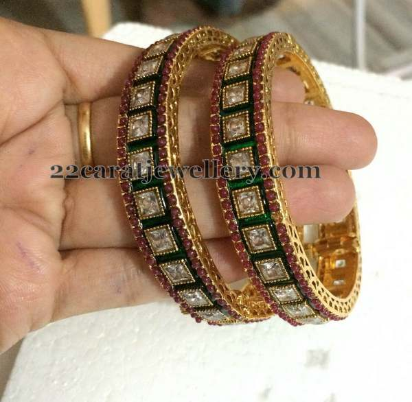 Polki Bangles only 1600 Rupees - Jewellery Designs