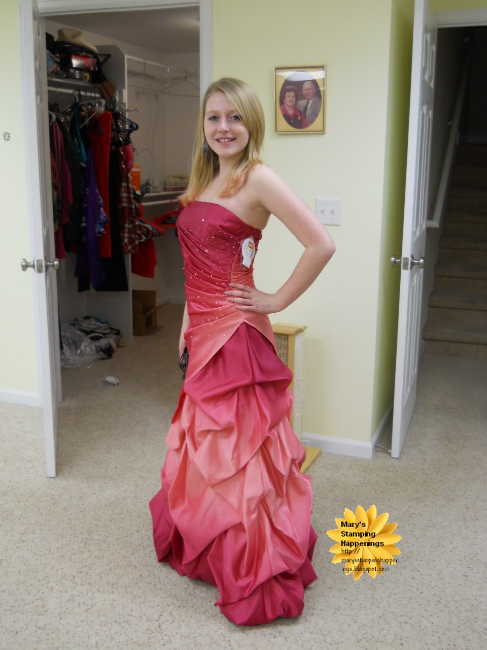 Mary\'s Stamping Happenings: Swimming and the Prom Dress the Story of ...
