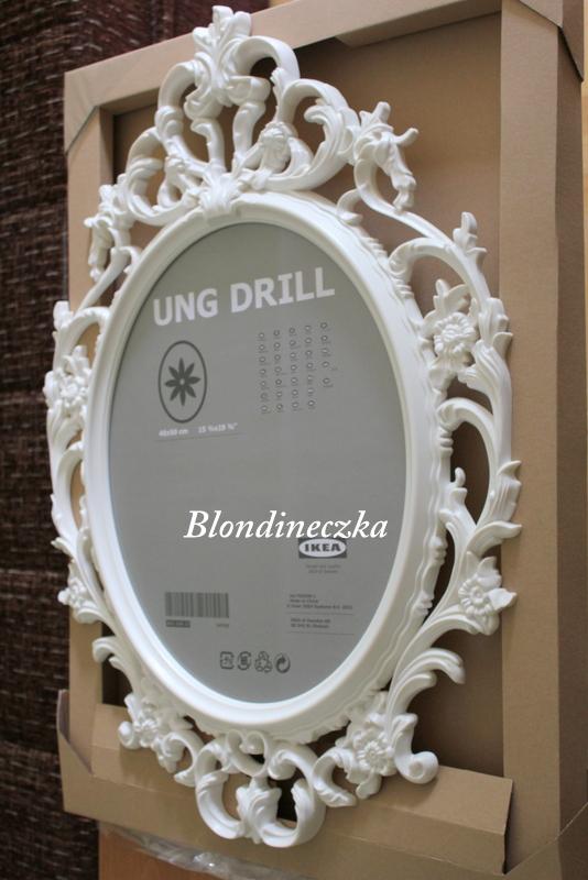 Blondineczka moje pierwsze diy z ramek ung drill for Miroir ung drill