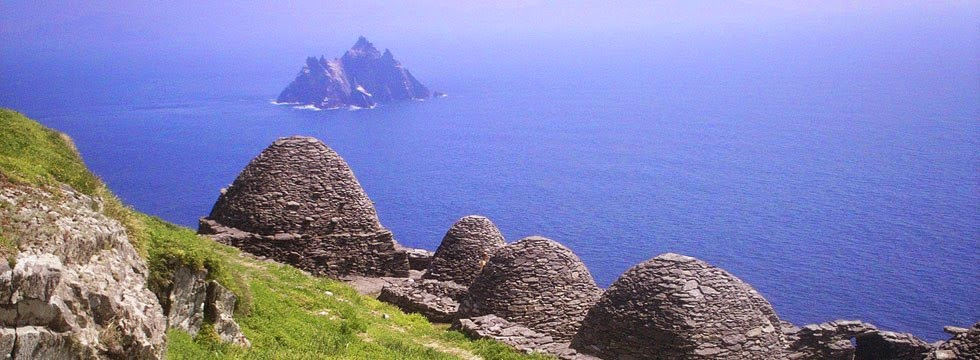 La isla de Skelling Michael en Irlanda