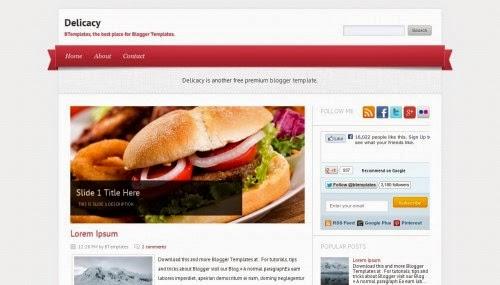 Delicacy - Free Blogger Template