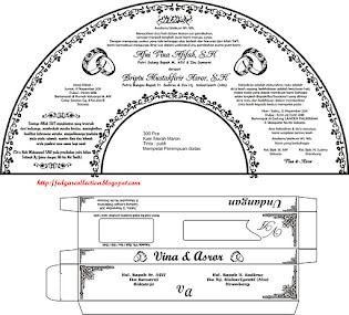 Desain Kipas Undangan dan amplop