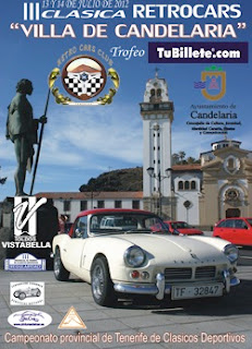 Cartel III Clsica Retrocars Villa de Candelaria Trofeo TuBillete.com
