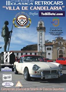 Cartel III Clásica Retrocars Villa de Candelaria Trofeo TuBillete.com