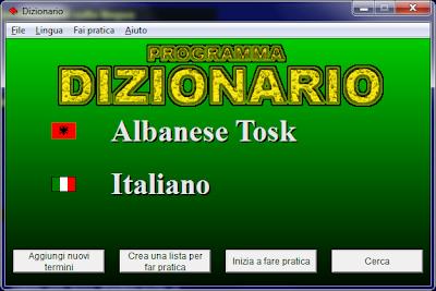 Fjalori italisht shqip