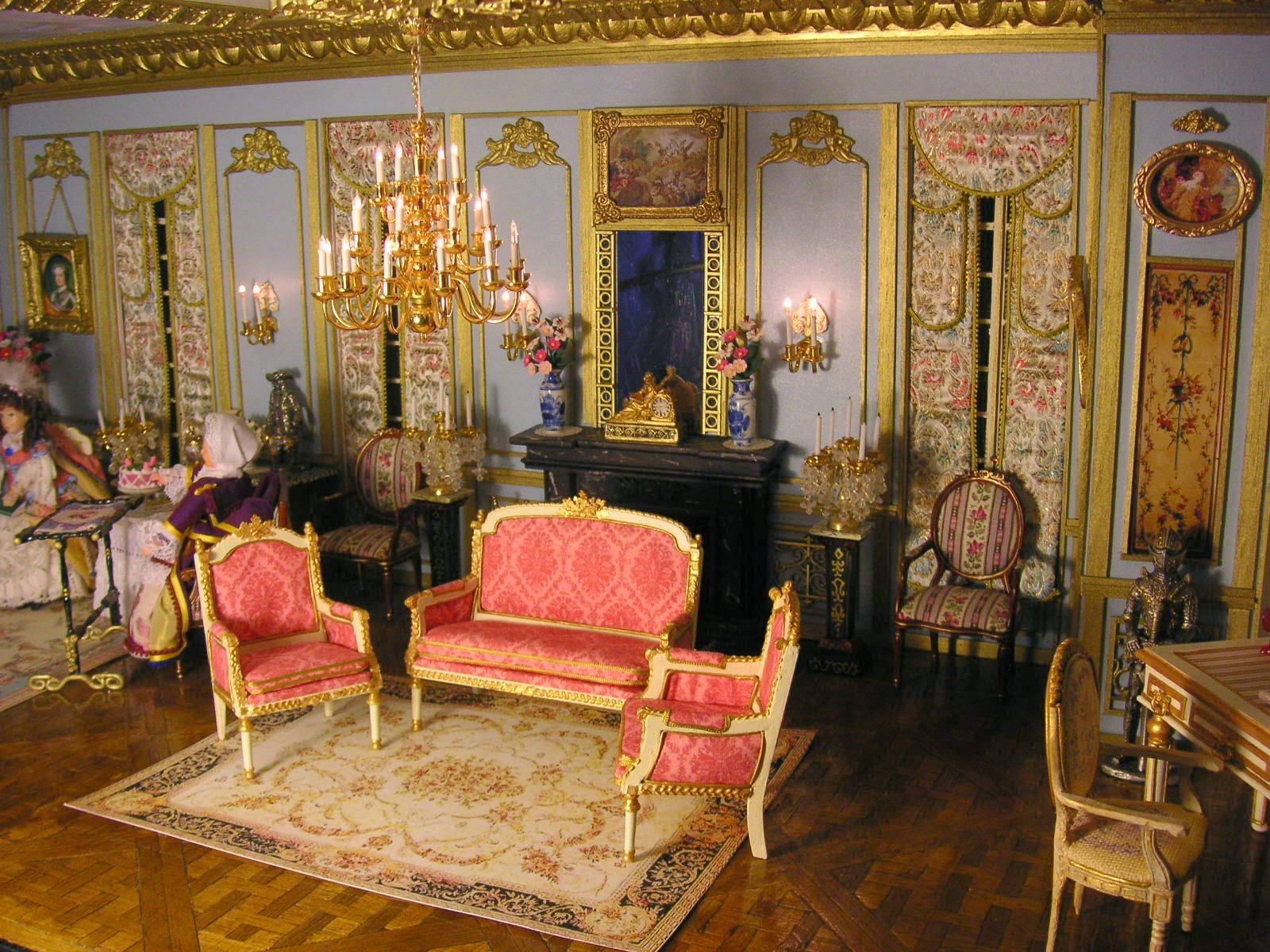 ensemble de salon complet inspiration louisxvi. Black Bedroom Furniture Sets. Home Design Ideas