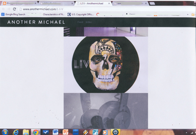 screen shot of corrine bayraktaroglu artwork used for LIV Nightclub 
