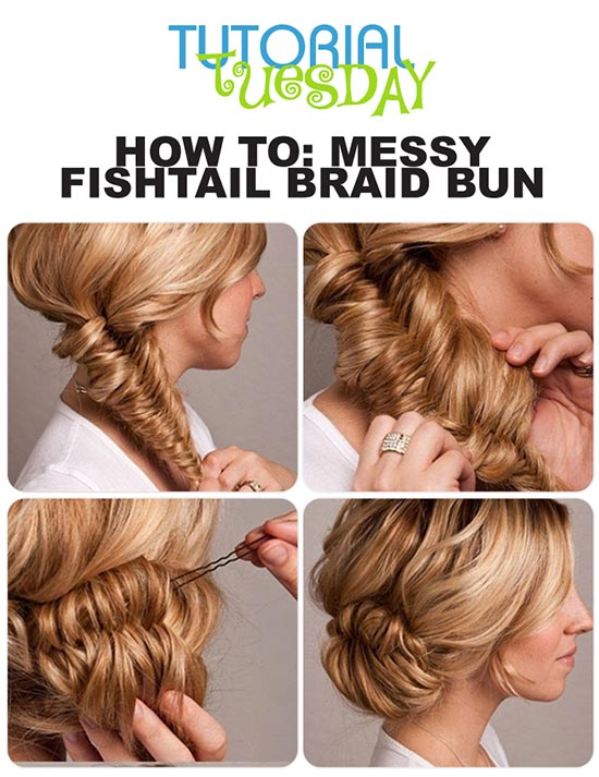 diy messy hair bun